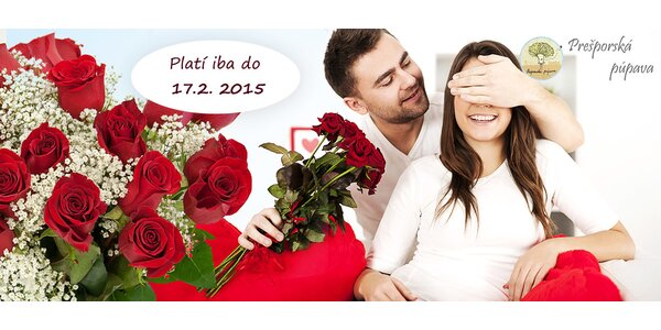 Romantické valentínske kytice ruží s donáškou