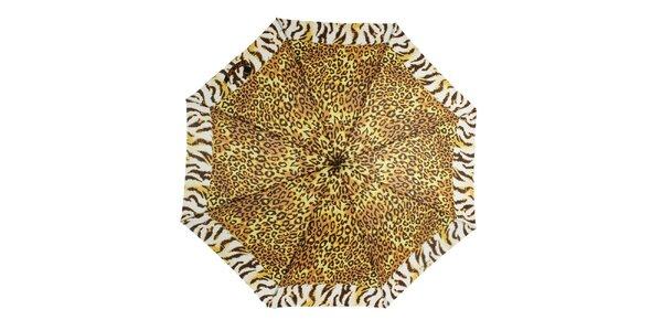 Dámsky dáždnik s leoparďou potlačou Ferré Milano