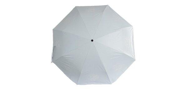 Dámsky modro-biely skladací dáždnik Ferré Milano