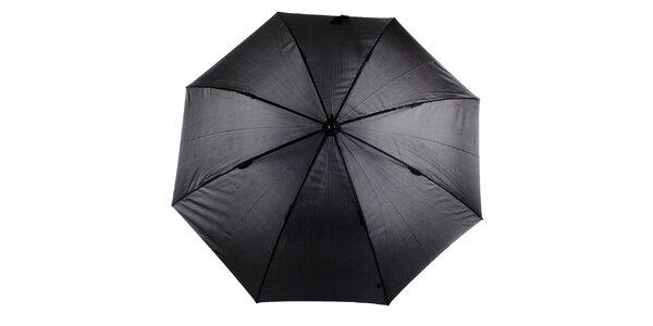 Pánsky šedo-čierny vystreľovací dáždnik s prúžkom Ferré Milano
