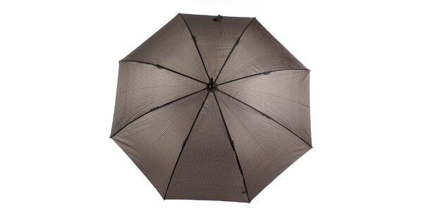 Pánsky hnedý vystreľovací dáždnik s prúžkom Ferré Milano