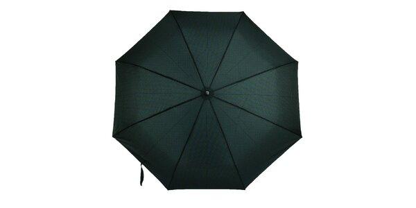 Pánsky vystreľovací dáždnik s modro-zeleným vzorom Ferré Milano