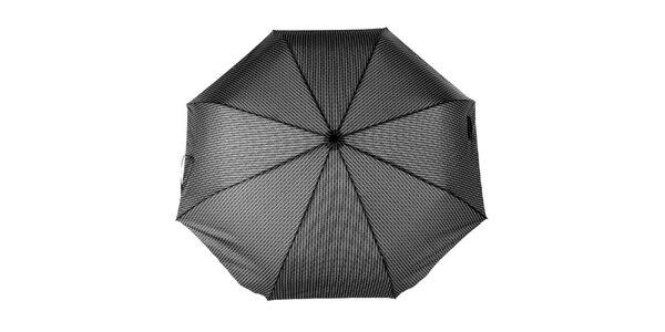 Pánsky skladací dáždnik so šedým vzorom Ferré Milano