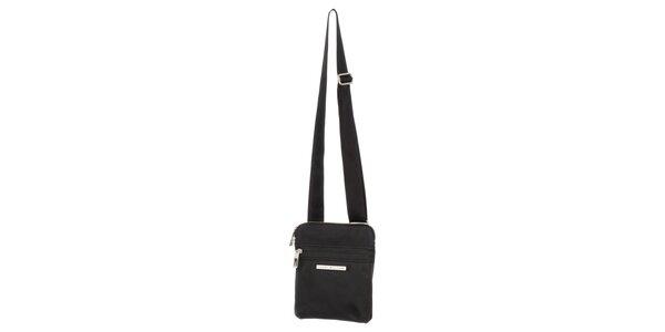 Pánska čierna taška so zipsami Tommy Hilfiger