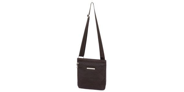 Pánska hnedá taška s vreckom na zips Tommy Hilfiger