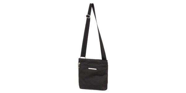 Pánska čierna taška s vreckom na zips Tommy Hilfiger