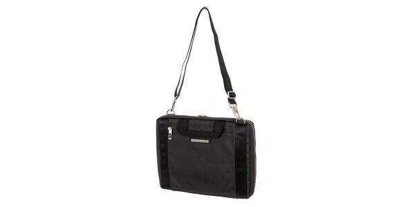 Pánska čierna obdĺžniková taška cez rameno Tommy Hilfiger