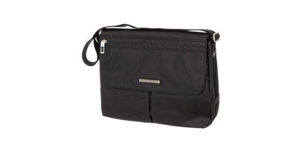 Pánska čierna taška so zipsovým vreckom Tommy Hilfiger