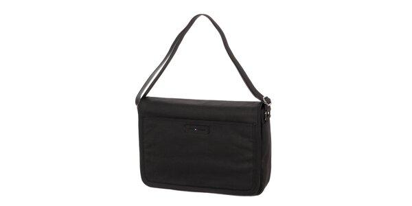 Pánska čierna taška s klopou na magnet Tommy Hilfiger