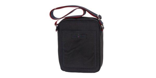 Pánska tmavo modrá taška s červenými prvkami Tommy Hilfiger