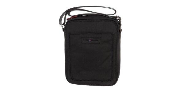 Pánska čierna plátená taška Tommy Hilfiger
