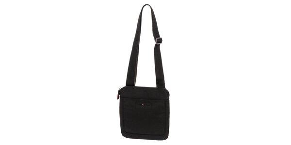 Pánska taška cez rameno v čiernej farbe Tommy Hilfiger