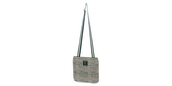Dámska zeleno-krémová vzorovaná kabelka Tommy Hilfiger