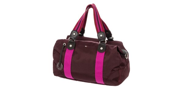 Dámska obdĺžniková kabelka Tommy Hilfiger - fialová