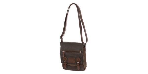 Pánska hnedá taška s klopou Tommy Hilfiger