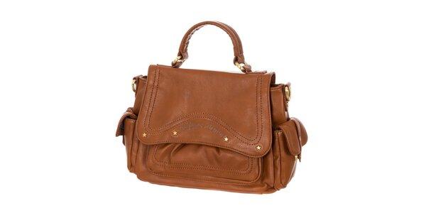 Dámska hnedá kabelka s klopou Tommy Hilfiger