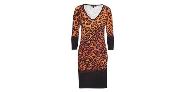 Dámske leopardie šaty Imagini