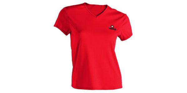 Dámske červené technické tričko s krátkym rukávom Izas