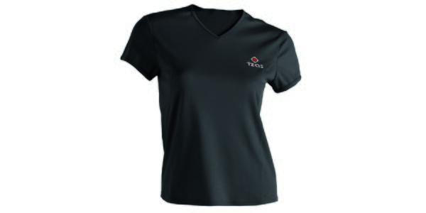 Dámske čierne technické tričko s krátkym rukávom Izas