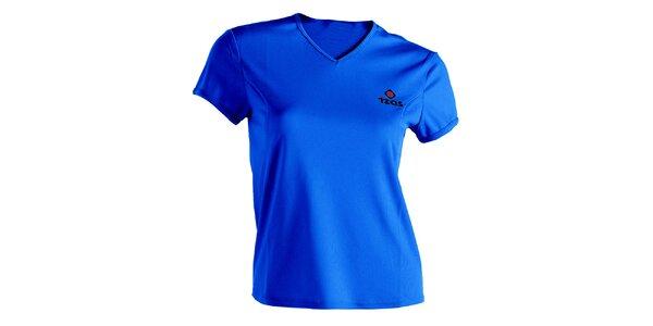 Dámske modré technické tričko s krátkym rukávom Izas