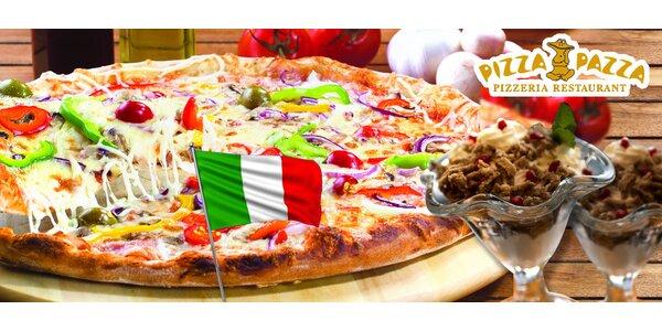 2 pizze podľa výberu a 2 gaštanové pyré s ovocím!