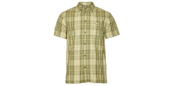 Pánska zelená kockovaná košeľa Bushman
