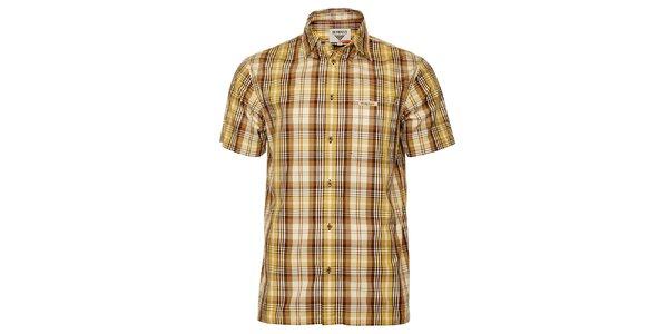 Pánska hnedo-žltá kockovaná košeľa Bushman