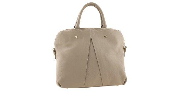Dámska piesková kožená kabelka Tina Panicucci