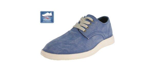 Pánske modré šnúrovacie topánky Beppi