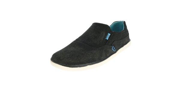Pánske antracitové nazúvacie topánky Beppi
