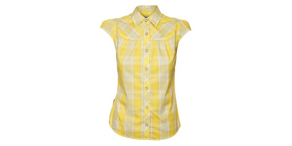Dámska žltá kockovaná košeľa Bushman