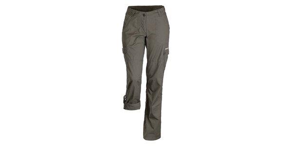 Dámske tmavé nohavice s možnosťou skrátenia nohavíc Bushman
