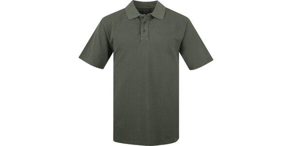 Pánske tmavo olivové polo tričko Bushman