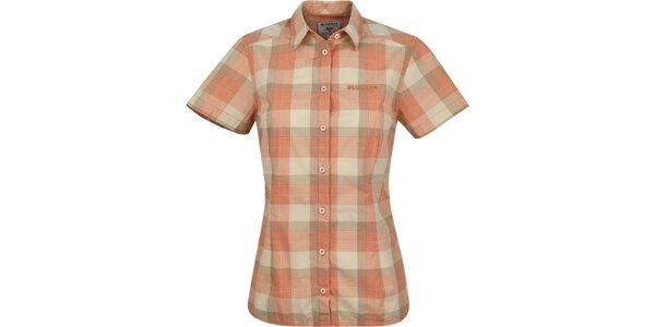 Dámska oranžová károvaná košeľa Bushman
