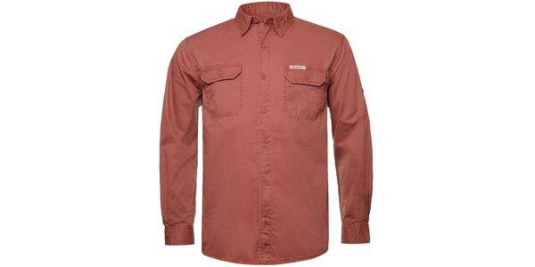 Pánska tehlovo červená košeľa Bushman