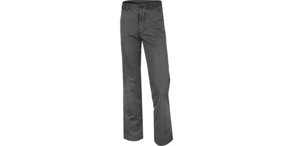 Pánske šedé bavlnené nohavice Bushman