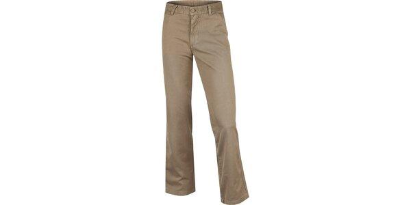 Pánske pieskovo hnedé bavlnené nohavice Bushman