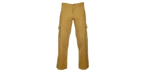 Pánske béžové nohavice Bushman