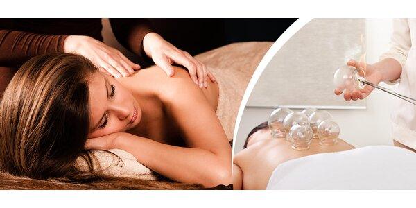 Klasická masáž s bankovaním alebo rašelinovým obkladom