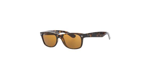 Žíhané slnečné okuliare s hnedými sklami Ray-Ban