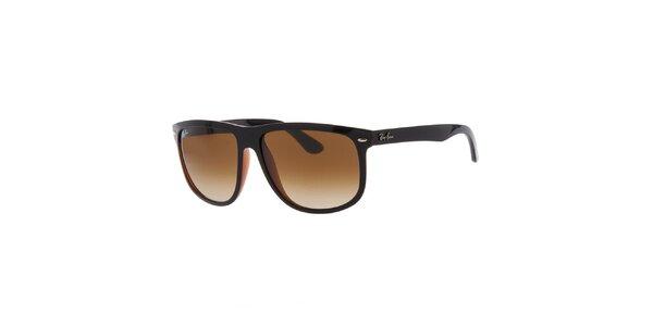 Pánske čierno-hnedé slnečné okuliare Ray-Ban
