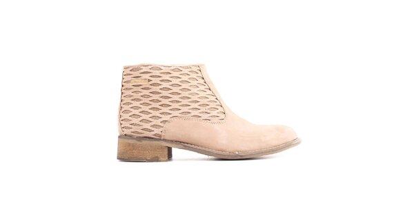 675e9a03c96a5 Dámske svetlo béžové členkové topánky Les Tropezienne