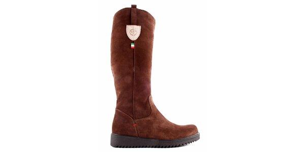 Dámske hnedé topánky so zipsom Karino