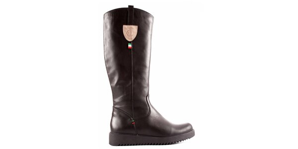 Dámske čierne topánky so zipsom Karino
