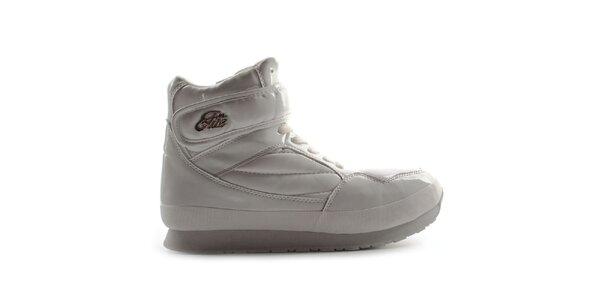 Dámske biele lesklé topánky Elite