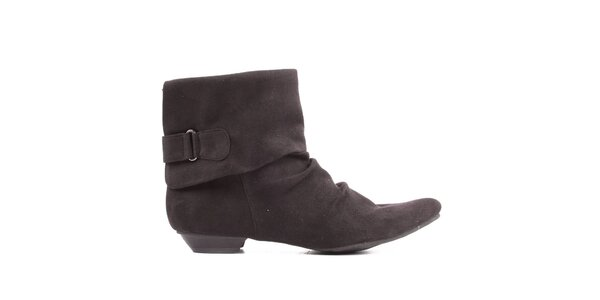 Dámske nariasené členkové topánky Toscania - čierne