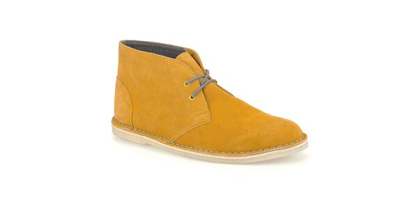 Pánske pieskové semišové topánky Clarks