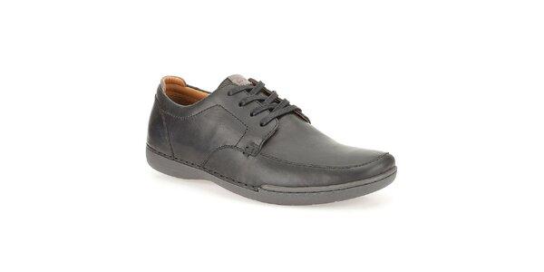 Pánske kožené topánky Clarks - čierne