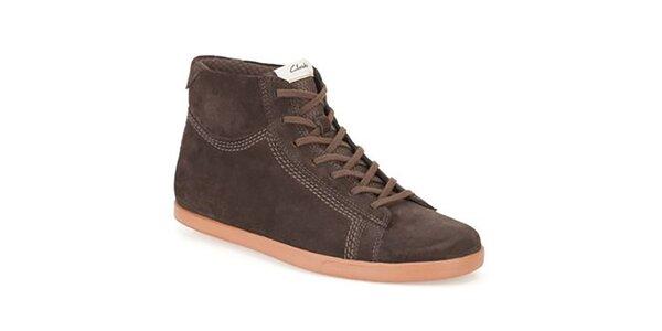 Pánske hnedé semišové topánky Clarks