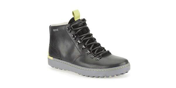 Pánske čierne kožené topánky Clarks s gore-texovou úpravou